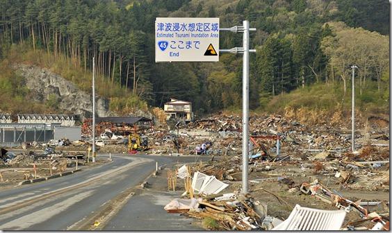 津波浸水想定区域ここまで